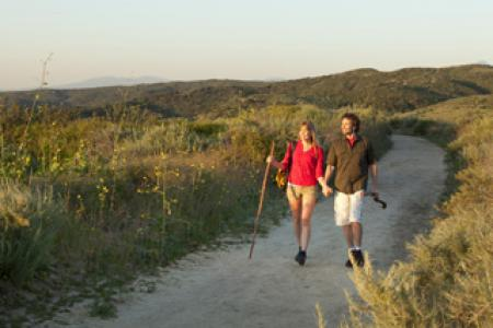 A couple hikes on a trial